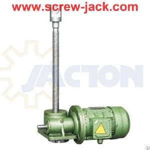Electric Driven Jack Screw Galvanized Pipe, Motor High Lift Worm Gear Power Screw For Scissor Lifts