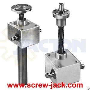Mini Hand Wheel Light Load Lift Gear Actuators, Small Hand Operated Light Weight Screw Driven Jack