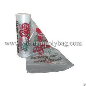 printed flat fruit plastic bag roll