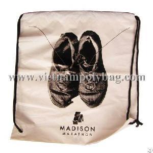 shoes store drawstring handle plastic bag