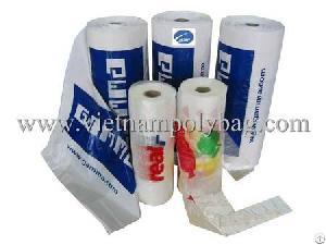 transparent vest plastic bag roll