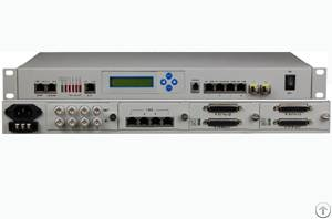 Multiservice E1 / Ethernet / V35 / Pots Optical Fiber Multiplexer
