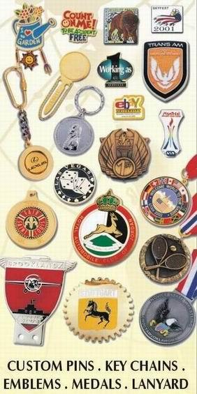Badges, Medals, Enamel, Acrylic Products, Custom Pin, Key Chains, Lanyard