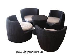 Outdoor Rattan Coffee Table Set No. 06715