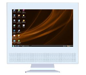 All-in-one 17 Inches Wide Screen Lcd Computer, Touch Screen