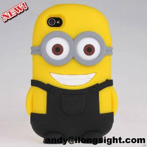 Best Buy 3d Despicable Me Design Silicone Soft Back Case Cover For Iphone 4s