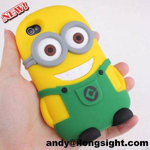High Quality Hot New Cartoon Movie Despicable Me 2 Soft Silicone Case Cover For Iphone 5