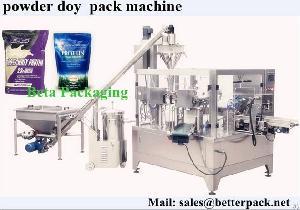 whey protein powder doy bag packaging machine
