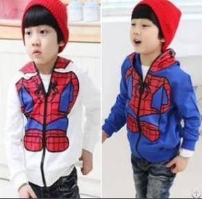 children spider man hooded sweater boy sport wear girl 5pcs