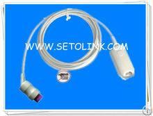 Reusable Kontron Round 12 Pin Adult Finger Clip Spo2 Sensor