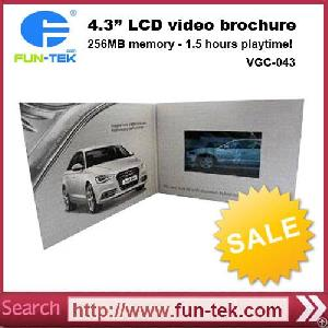 Wholesale Chinese 4.3 Inch Touch Screen Video Greeting Card Mailer Brochure Video In Print