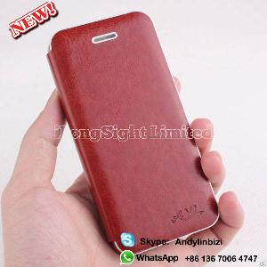 7 Color Wood Pu Leather Flip Hard Case Cover For Apple Iphone