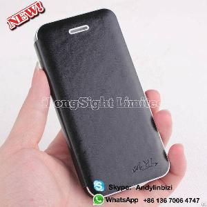 folio wood skin pu leather case cover iphone 5 5s