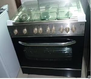 Six Burner Stainless Steel Freestanding Oven