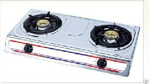 Two Burner Stainless Steel Body Gas Stove