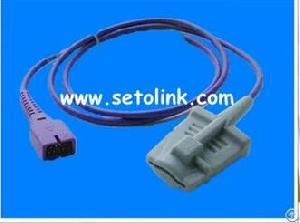 nellcor oximax spo2 sensor db9 pin adult silicone soft tip