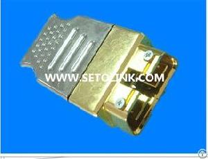 assembled golden metal obdii 16pin male connector