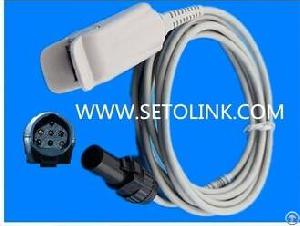 Novametrix 660-940 7 Pin Male One Piece Reusable Adult Finger Clip Spo2 Sensor