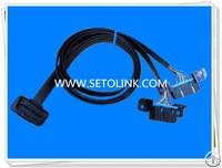 Flat Obdii Cable Y Style 16 Pin Male To Double Female Connectors