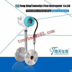 smart tempreature pressure compensation steam vortex flow meter