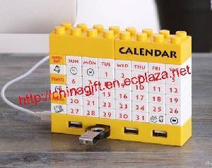 Diy Lego Puzzle Block Calendar With Usb Hub