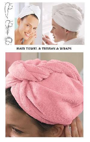 Hair Towels, Hair Turban, Wet Hair Wraps, Cotton Terry Bath Caps, Terry Spa Turban