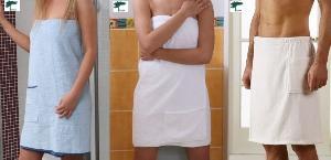 Luxury Body Wraps , Terry Cloth Bath Wraps, Shower Wraps, Terry Spa Wraps
