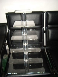 5 Tier Square Cake Display