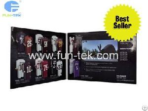 Lcd Invitation 4.3 Inch Video Brochure Promotional Greeting Card At Wholesale Price