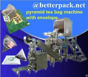 pyramid tea bag machine packing outer envelope system