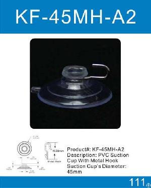 Suction Cup With Metal Hook Or Plastic Hook