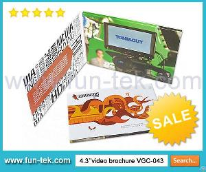 Online Buy Wholesale Lcd Video Brochure Card Vgc-043 From China Factory