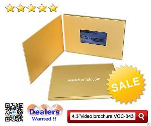 Usa 4.3 Inch Lcd Digital Video Brochure Paper Greeting Card Corporate Booklet Vgc-043