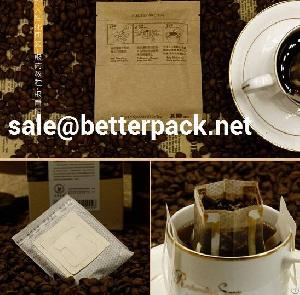 pack drip coffee filter bags packaging machine packs