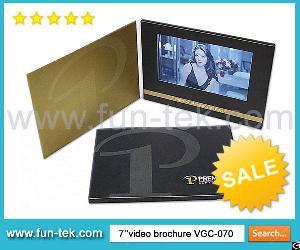A5 Landscape 2gb 7 Inch Touchscreen Video Brochure Card For International Top Brands Vgc-070t