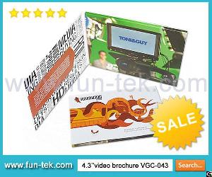 Catch Your Clients With Fun Video Brochure Vgc-043 Lcd In Print Cards Mailers Promotional Gifts