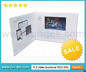 Fast Shipping Video Ad Card Lcd Brochure Booklet From Factory In Guangdong Province