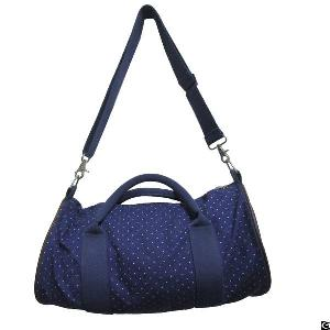 Fashion Travel Canvas Duffel Bag With Shoulder Strap For Women