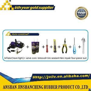 auto combine f inflator light valve core removal tire sealant repair four suit