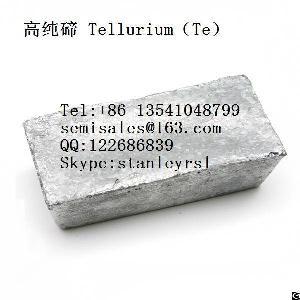 High Purity Tellurium Te Cas No13494-80-9