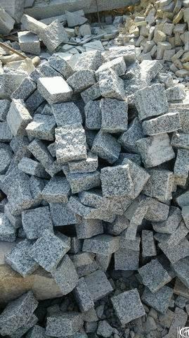 China G603 Grey Granite China Grey Natural Cube Stone Cobble Stone Pavers