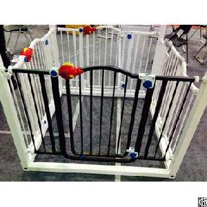 Baby Safety Gate, Made Of Abs And Steel, Automatic Close, Pressure Fit, Double-lock