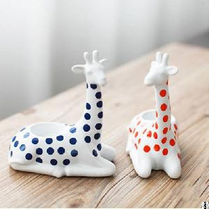 ceramic deer candle holders stands tea light