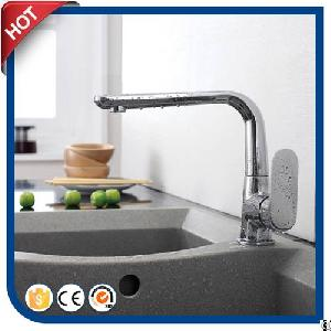 brass handle kitchen faucet