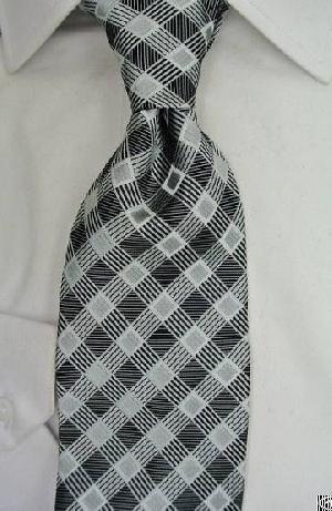 dressed grey checkered necktie wgt 3598