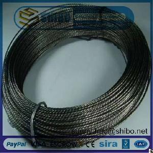 factory 0 76mm twisted tungsten wire coiled filaments