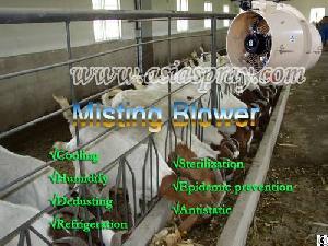 cultivation farms misting cooling sterilize fan