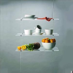 25x60cm clear acrylic kitchen shelf