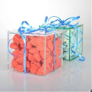 Modern Acrylic Sweet Display Cubes For Wedding And Parties