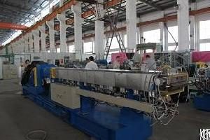 China Supply 600rpm 100kg / H Corotating Parallel Twin Screw Extruder Pvc For Granules